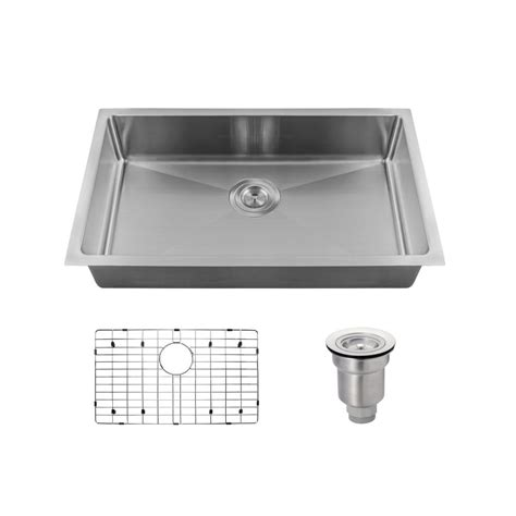 Mr Direct Kitchen Sinks Reviews Mr Direct All In One Undermount Stainless Steel 18 In Single Bowl Kitchen Sink 2905s 18 Ens