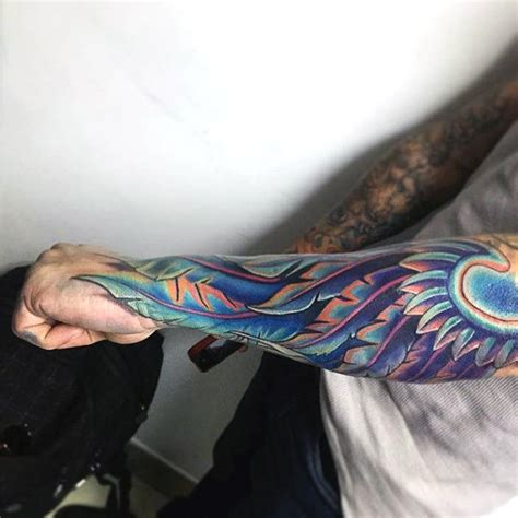 coloured angel tattoo top 100 best wing tattoos for men designs that elevate