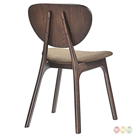 Side Chairs Dining Set Of 2 Murmur Vintage Modern Wooden Dining Side Chairs With Fabric Seat Walnut Latte