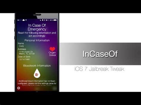 pattern lock jailbreak ios 8 incaseof brings ios 8 emergency card to ios 7 jailbreak