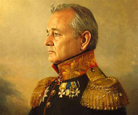 bill murray military movie celebrity soldier portraits