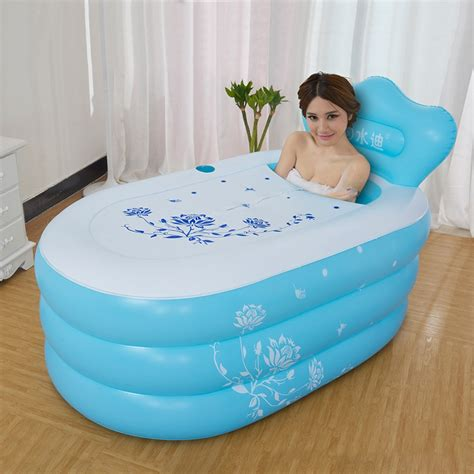 small size bathtubs small size adult folding thickening warm keeping pvc tub inflatable portable bath