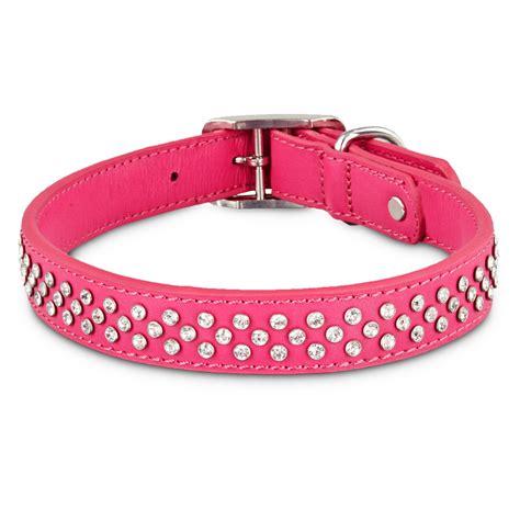 pink collar bond co leather bling pink collar petco