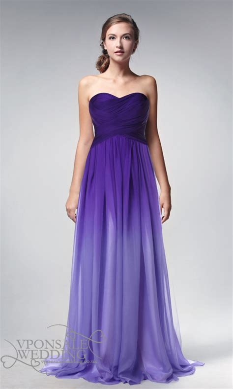 Two Terrible Black Dresses Two Different Places by Ombre Purple Prom Dresses 2014 Dvp0002 Vponsale Wedding