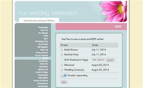 wedding rsvp website page 2 of 31 ewedding
