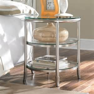 Ideas For Metal Nightstand Design Essex Metal Glass Nightstand Contemporary Nightstands And Bedside Tables By Hayneedle