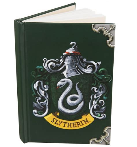 harry potter slytherin ruled notebook books harry potter slytherin crest a6 notebook