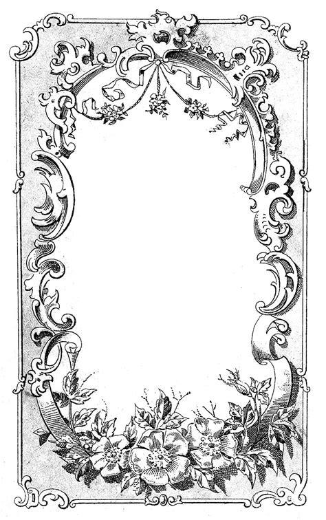 printable clock borders digital frame image ornate european the graphics fairy