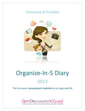 5 minute journal organize your and get most out of each day books 2013 your most productive and organized year