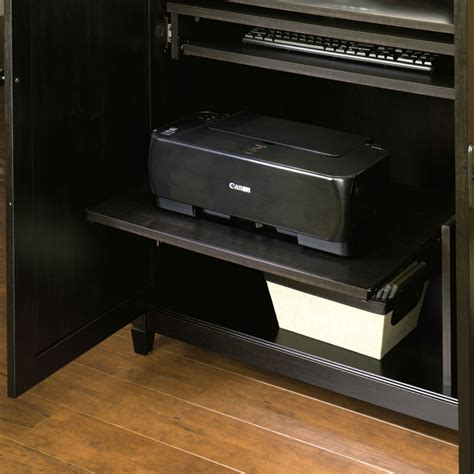 sauder edge water computer armoire space saving computer armoire with concealed work desk