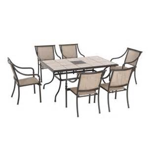 home depot 7 patio set hton bay sling patio dining chairs 6 pack