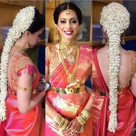 indian hairstyles with jasmine flowers 28 best south indian bridal hair images on pinterest