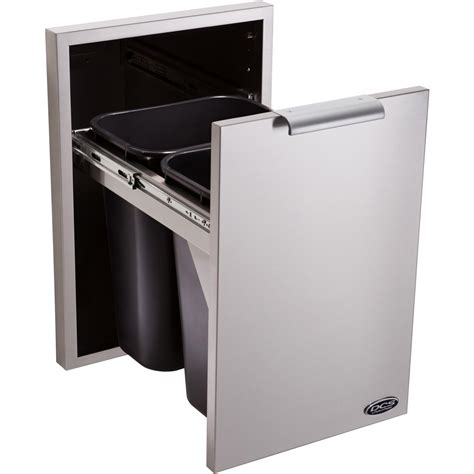 Kitchen Islands Stainless Steel Dcs 20 Inch Roll Out Trash Recycle Bin With Soft Close