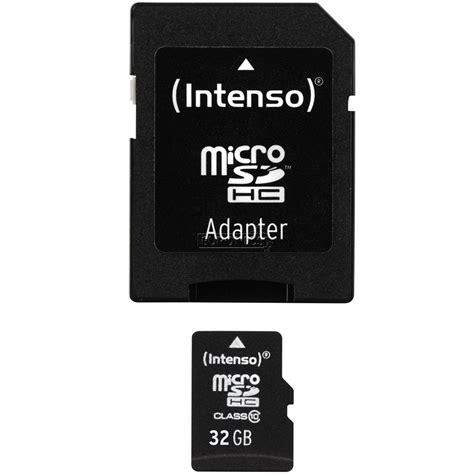 Memory Card Micro Card Adapter 32gb micro sdhc memory card adapter 32 gb intenso 3016655