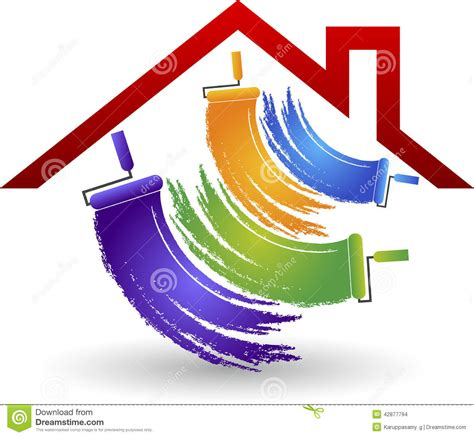 House Painting Logo Stock Vector Image 42877794