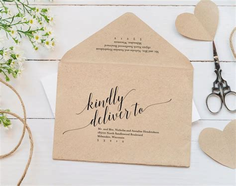 Free Printable Wedding Envelope Template | calligraphy envelope printable envelope template wedding