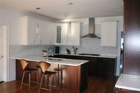 how to finish the top of kitchen cabinets multi tone and multi finish kitchens contemporary