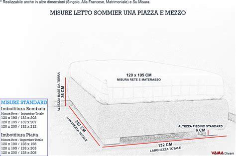 misure letti una piazza e mezza letto con contenitore una piazza e mezza senza testata sommier