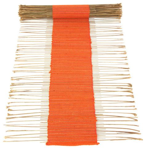 solid color rug runners swahili modern solid color twig table runner view in your room houzz