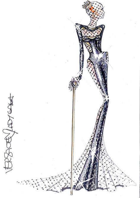 fashion illustration versace image atelier versace sketch for 54th grammy awards jpg gagapedia