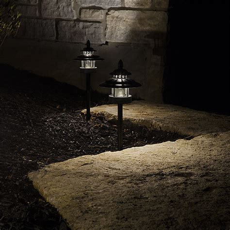 landscape path light led landscape path lights dual tier 2 watt aluminum