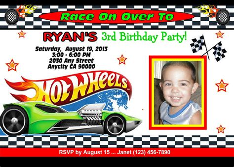 printable birthday cards hot wheels hot wheels racing custom printable birthday party