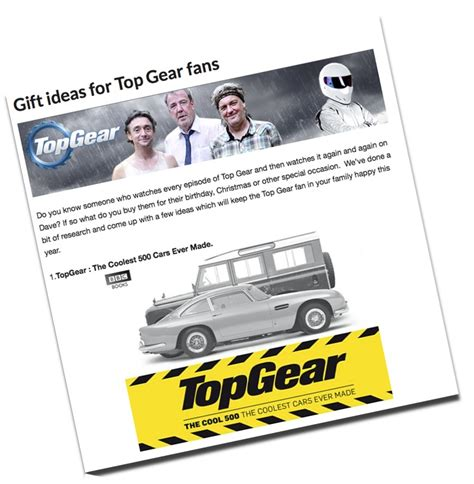 bbc topgear gift ideas for christmas and birthdays