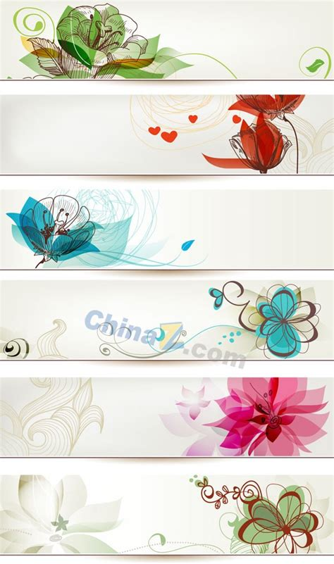 Flower Pattern Banner Vector Templates Over Millions Vectors Stock Photos Hd Pictures Psd Flower Banner Template