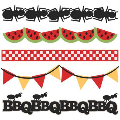 BBQ Borders SVG scrapbook cut file cute clipart files for ... Bbq Border Clip Art Free