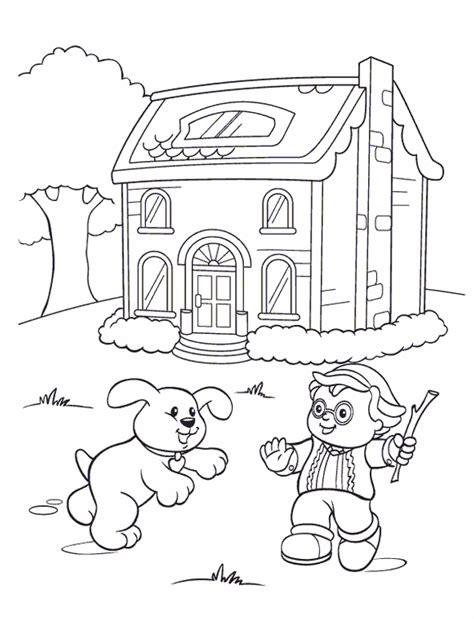coloring pages fisher price kids n fun kleurplaat little people little people