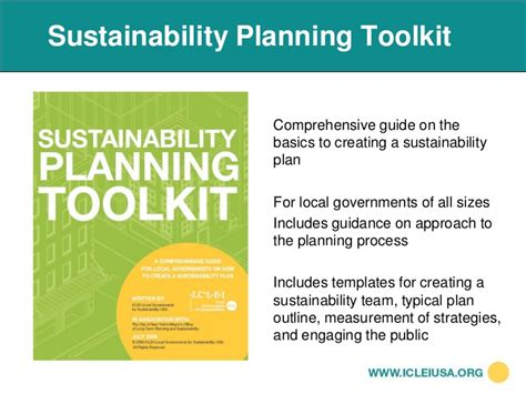 sustainability plan template mapd 2010 iclei sustainability toolkit
