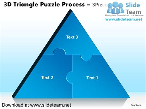 3 puzzle pieces template 3 d pyramind triangle built out of puzzle pieces puzzle