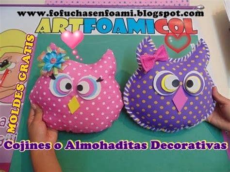 fotos de buhos hechos con fomi cojines o almohadas decorativas buho en foamy con moldes