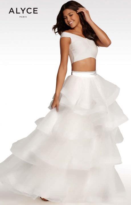 alyce paris kp  piece ballgown prom dress