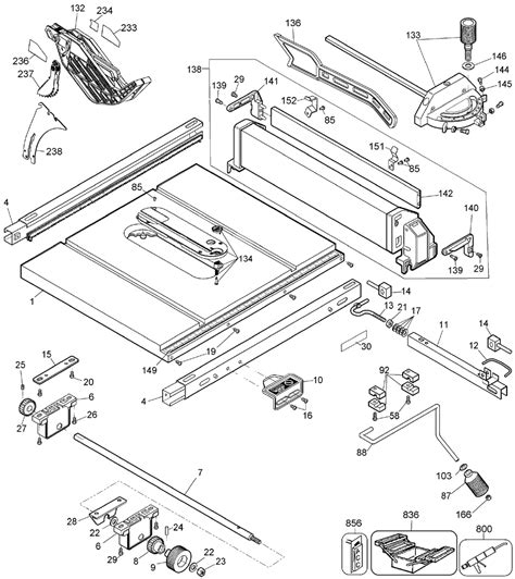 Dewalt Table Saw Parts by Buy Dewalt Dw744x Type 5 10 Inch Jobsite Table Replacement