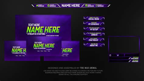 Free Twitch Overlay Template Pack 2 Psd Free Down Doovi Twitch Info Templates