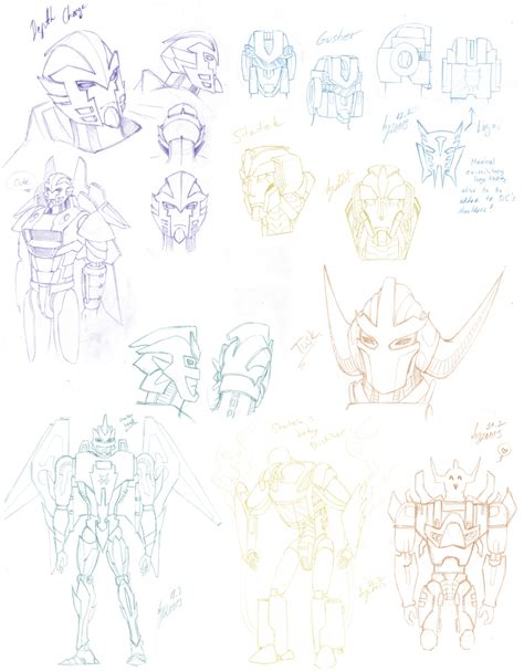X Character Sketches by Tfbw Transformers X Character Sketches By Pika On
