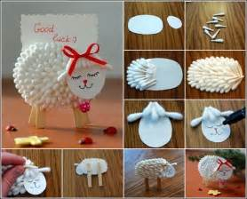 how to make cotton at home diy cotton swab name card holder