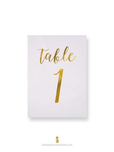 wedding table number cards octavia gold foil table numbers gold table number cards
