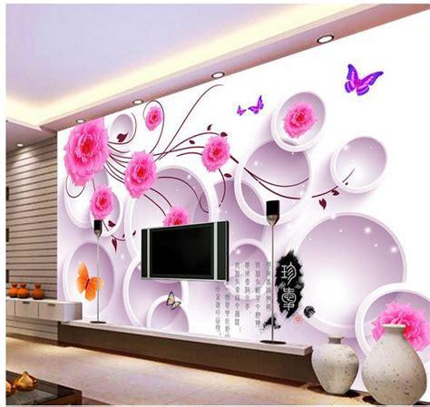 Room Designing App wall sticker elegant small fresh flowers wallpaper mural