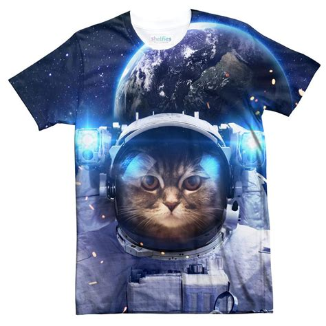 Tshirt Astronaut Cat astronaut cat t shirt shelfies
