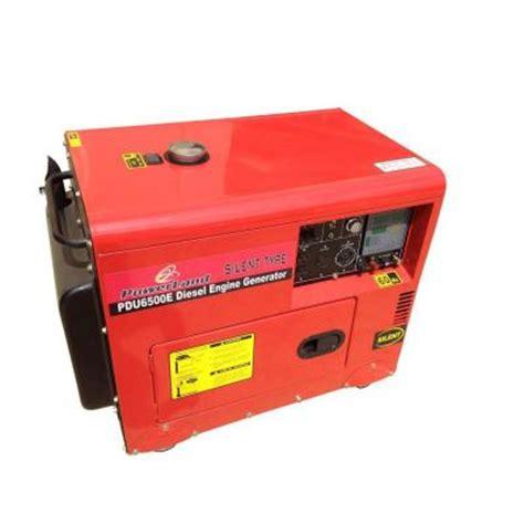 powerland 6 500 watt silent diesel generator with