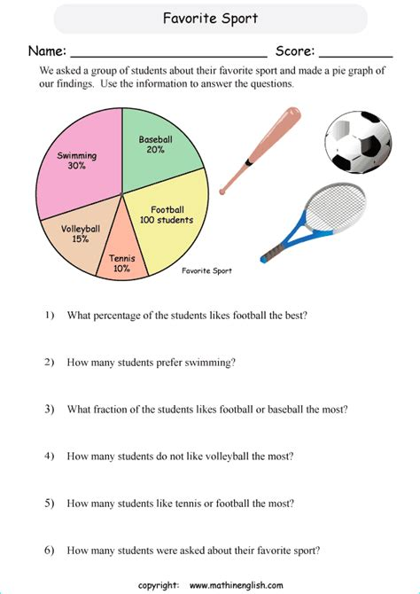 number names worksheets 187 pie chart problems worksheets