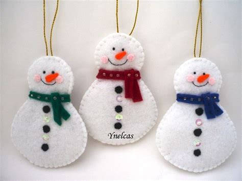 pattern for felt snowman snowman felt christmas ornament set of 3 on luulla