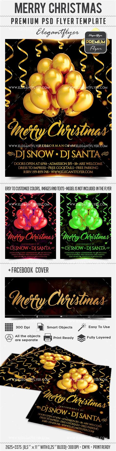 Download Merry Christmas Facebook Cover Psd Flyer Template Flyershitter Com Merry Flyer Template Free