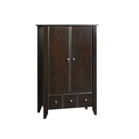 sauder shoal creek armoire sauder shoal creek collection jamocha wood armoire shop