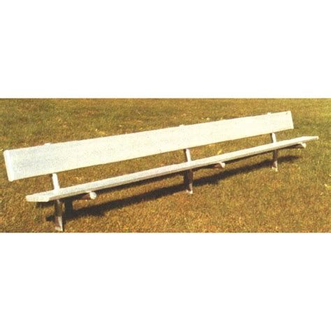 8 foot bench bench with back 8 ft aluminum galvanized frame