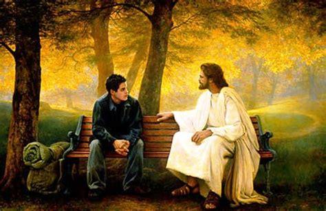 imagenes de jesus hablando con un joven chelisss orar es hablar con dios y pensar en 201 l con amor