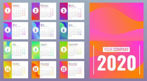 kalender  met maanden cartoon stijl premium vector
