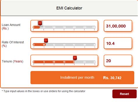 housing loan emi calculator hdfc icici bank housing loan emi calculator 28 images emi